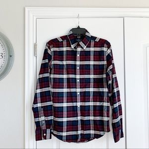 Men's American Eagle Plaid Button Down Shirt